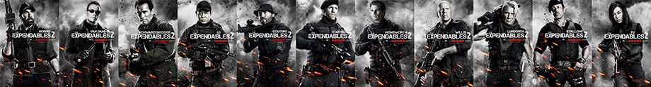The Expendables 2 character poster minus Terry Crews