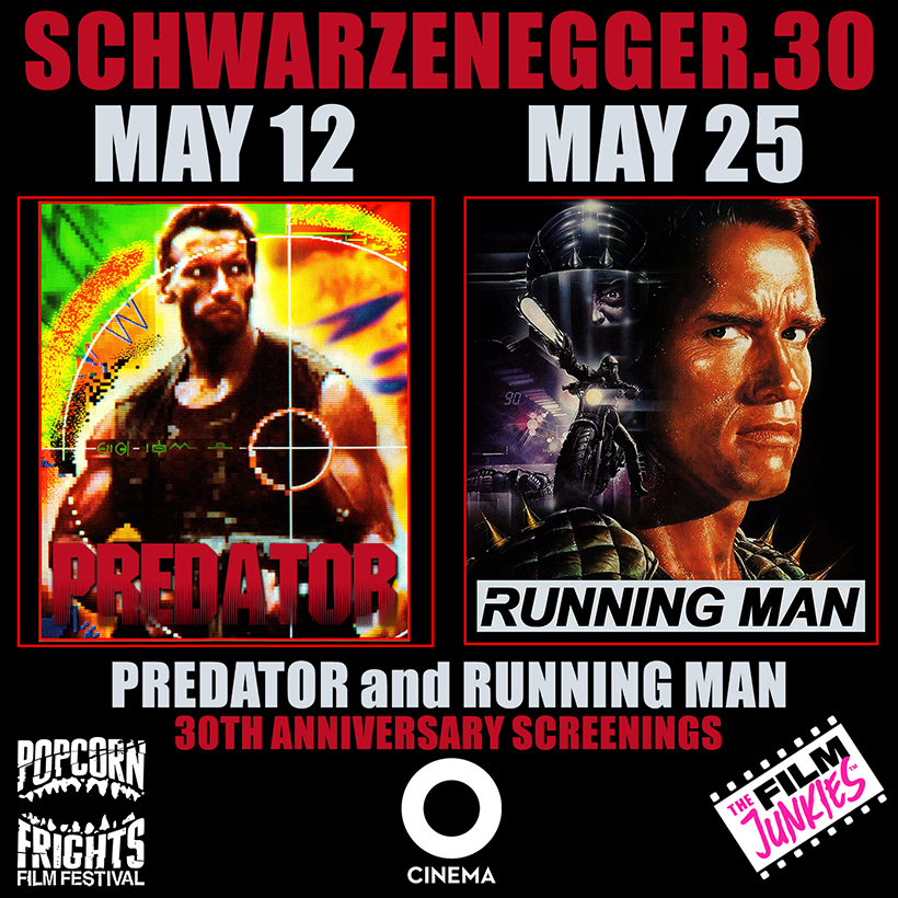 OCinema Schwarzenegger ad for Predator and Running Man