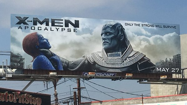 Mystique being choked billboard