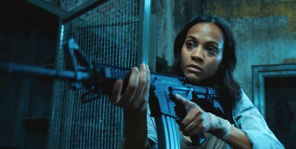 Colombiana movie Zoe Saldana with