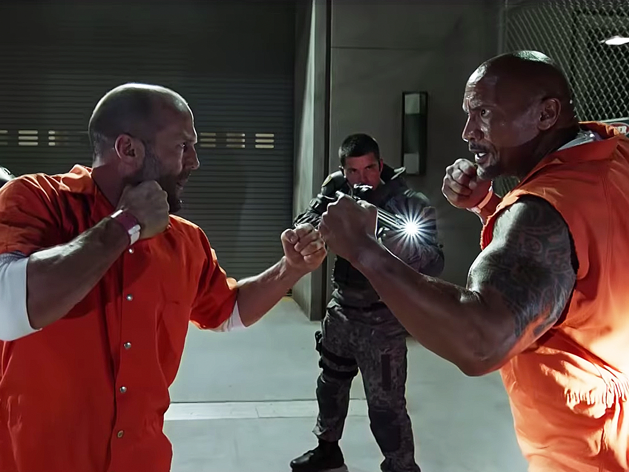 Jason Statham and The Rock face off in The Fate of The Furious