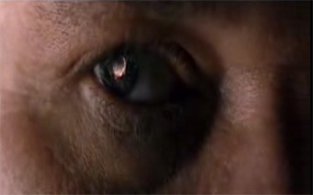 The Chronicles of Riddick movie sunrise on Crematoria reflected in the eye
