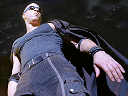 The Chronicles of Riddick, Riddick shot from below