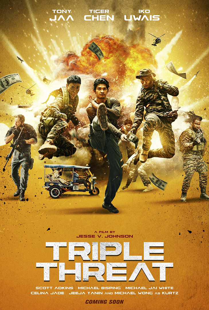 Triple Threat action movie poster