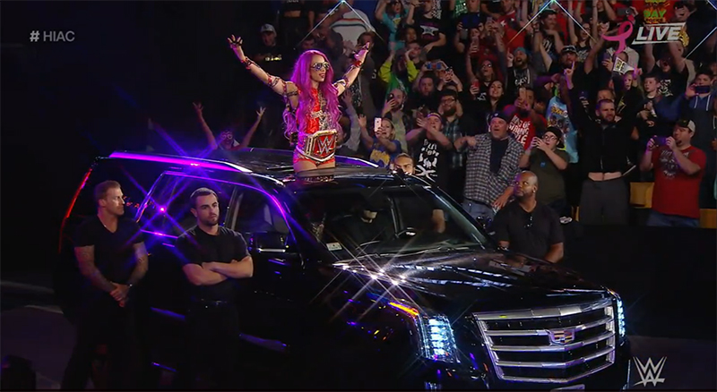 WWE Hell in a Cell October 30, 2016 Sasha's entrance