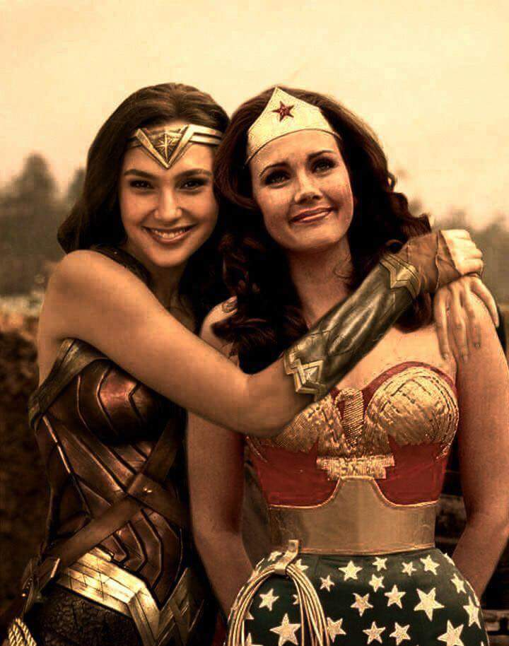 Wonder Women Gal Gadot with Lynda Carter by Jack Fisher