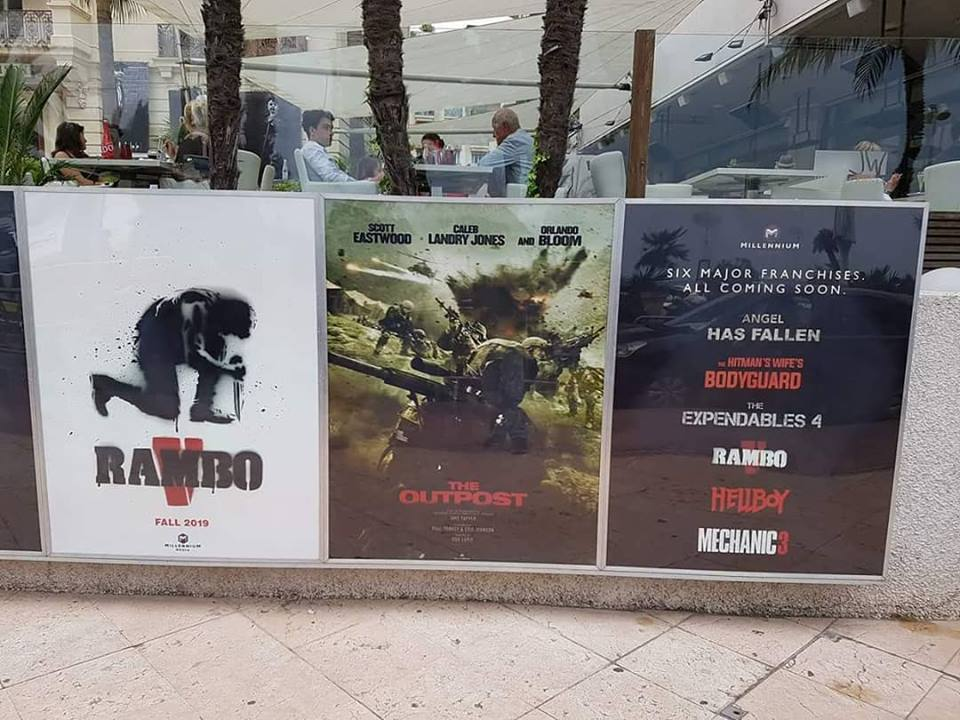 Rambo V movie poster from Cannes photo by Chad Law via Eoin Friel of The Action Elite