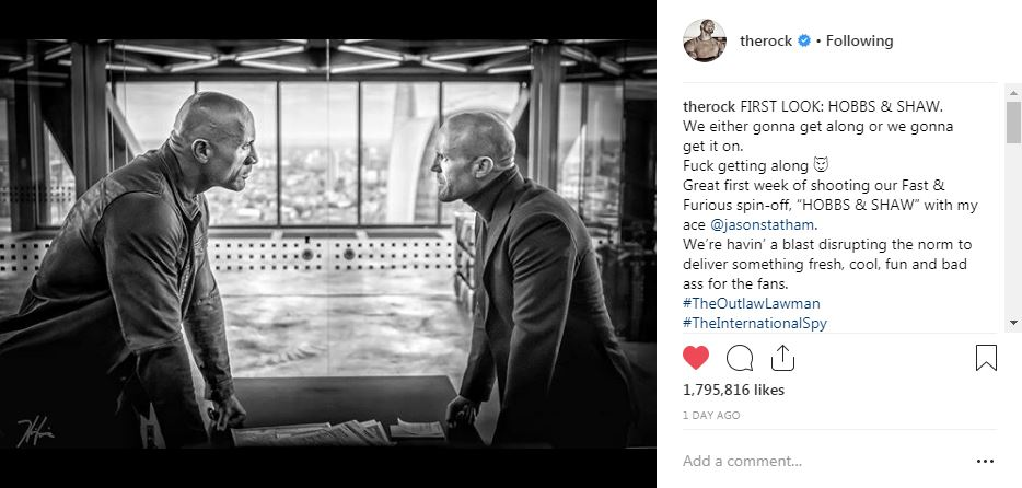 The Rock and Jason Statham team up in Hobbes and Shaw