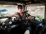 stunt double Dayna Grant as Furiosa
