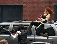 stunt double Heidi Moneymaker as Black Widow