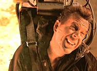 Bruce Willis in Die Hard 2 ejector seat scene