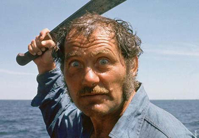 Robert Shaw as Quint in Jaws