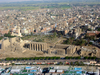 aerial photo of Thebes