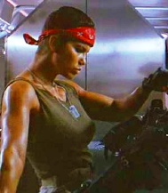 Action Movie Bad Ass Chick Jennette Goldstein as Vasquez in Aliens
