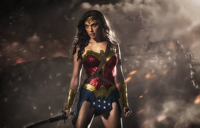Wonder Woman Dawn of Justice costume with color added